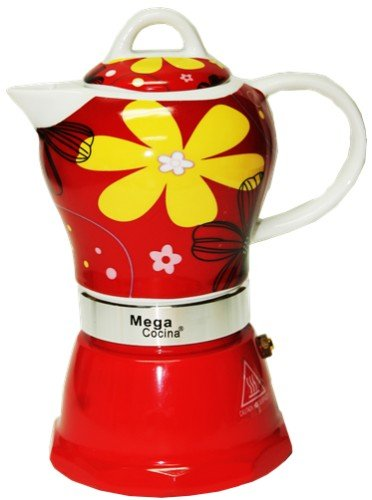 Espresso Cuban Coffee Maker 4 Cups Color RED
