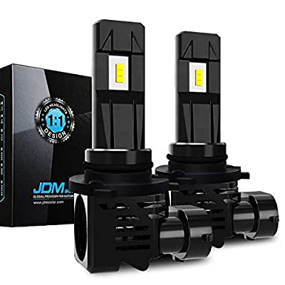 JDM ASTAR High Performance 1:1 Design 9006 White Light Output Up to 100% More Downroad Visibility LED Headlight Bulbs/Fog Light Bulbs: Automotive