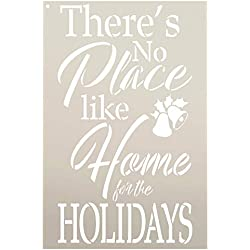 """There's No Place Like Home for The Holidays Stencil - by StudioR12 