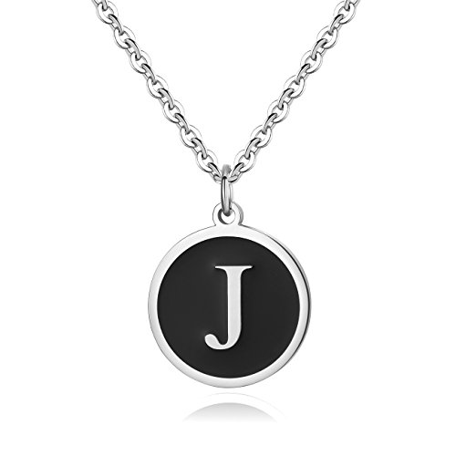 REVEMCN Stainless Steel Alphabet and Bible Verse Proverbs 4:23 Pendant Necklace for Men Women with Keyring and 22'' Chain (Silver-Tone: ()
