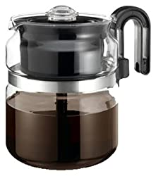Medelco PK008 8-Cup Glass Stovetop Perk Coffeemaker made by Medelco