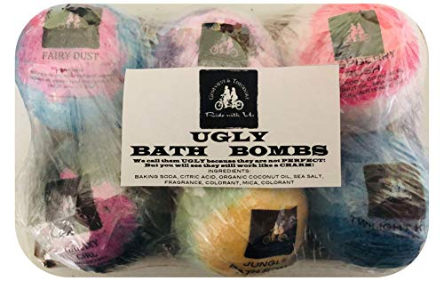 XL Bath Bomb by Soapie Shoppe (6-8 ASSORTED LARGE AND SMALL UGLY Bath Bombs)