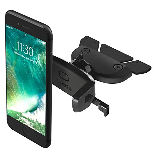 (iOttie Easy One Touch Mini CD Slot Car Mount Holder Cradle for iPhone Xs Max R 8 Plus 7 Samsung Galaxy S10 E S9 S8 Plus Edge, Note 9 & Other Smartphone)