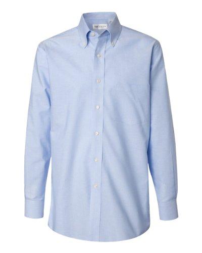 Van Heusen Pinpoint Oxford Shirt - Blue 13V0067 L Button Down Pinpoint Oxford Shirt