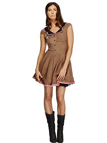 Smiffys Women's Fever Wild West Costume, Dress, Western, Fever, Size 10-12, -
