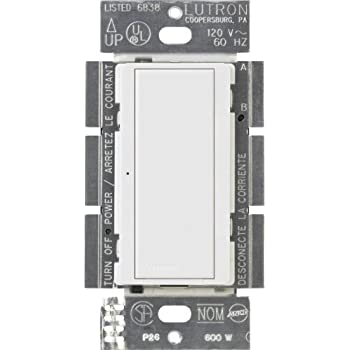 Lutron MA-S8AM-WH 8-Amp Maestro Digital Light Switch, White