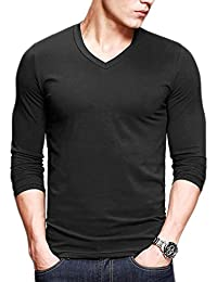 Mens Henley T-shirts With Short Sleeve Slim Fit Button Placket