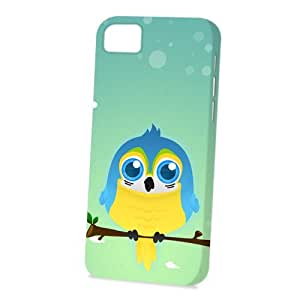 Case Fun Apple iPhone 5 / 5S Case - Vogue Version - 3D Full Wrap - Blue & Yellow Macaw Parrot by DevilleART