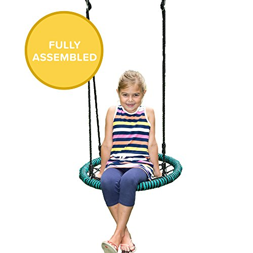 (Play Platoon Spider Web Tree Swing - 24 Inch Diameter, 400 lb Weight Capacity, Fully Assembled, Easy to Install)