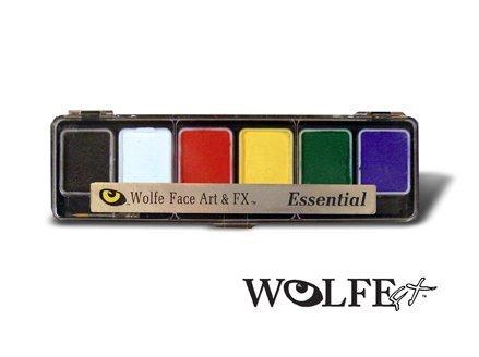 Wolfe 6 Color Palette/Face Paint Kit (Skinz)