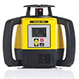 Leica R680,RE140, Alkaline Rugby 680 2600-Feet Self Leveling Horizontal, Dual Axis Dial in Grade, Rotary Laser Kit with Rod Eye 140 Receiver, Yellow