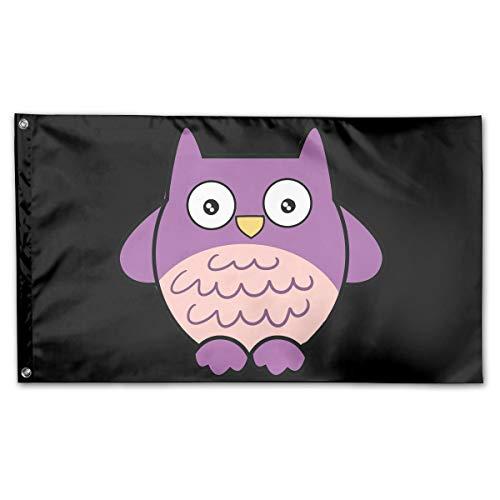 Riyuekong 3X5 Foot Cartoon Owl Flag - 100%