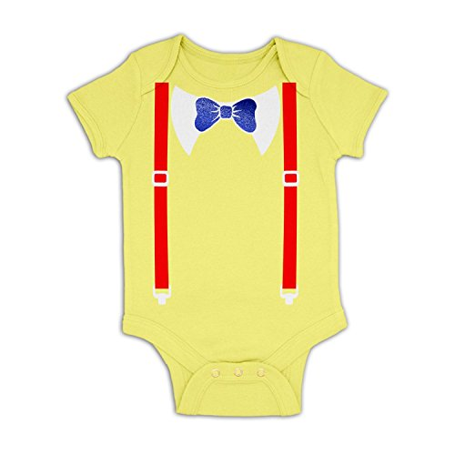 [Tweedle Dee And Tweedle Dum Costume Baby Grow - Pale Yellow 6-12 Months] (Twins Day Costumes)