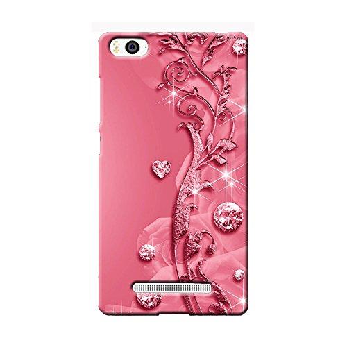 Clapcart Mi 4i / Mi4i Designer Printed Back Cover for Xiaomi Mi4i / Mi 4i  Pink Color  Heart Design for Girls
