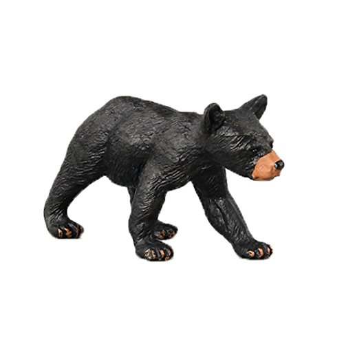 Dartphew Toys,Dartphew 1Pcs Black Bear Animal Model Toy Figurine Model Ornament Cool Great Gift for Safe & Fun Role Play for Kids Baby(Safety Non-toxic) (Style B)