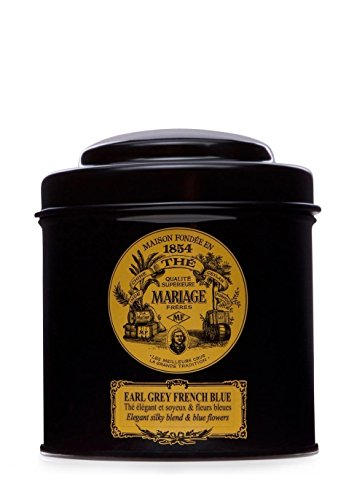 MARIAGE FRERES. Earl Grey French Blue Tea, 100g Loose Tea, in a Tin Caddy (1 Pack) Seller Product Id MR24LS - USA Stock - Loose Tea Caddy