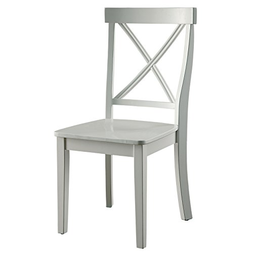 HOMES: Inside + Out IDF-3546SC Ollie Side Chair Cottage, White