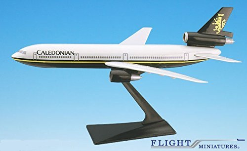 Dc 10 Airplane (Caledonian DC-10 Airplane Miniature Model Plastic Snap-Fit 1:250)