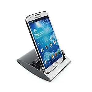 3-en-1 de sobremesa OTG cargador y cargador de batería ranura Samsung Galaxy S4 I9500 (Negro )