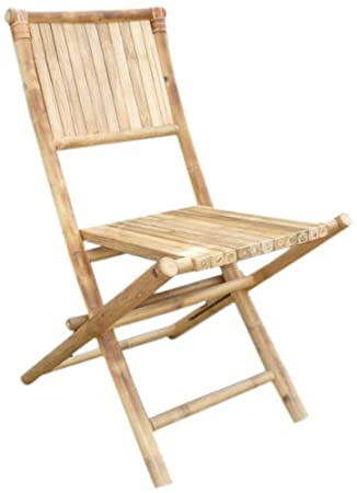 ZEW Bamboo Folding Bistro Chair