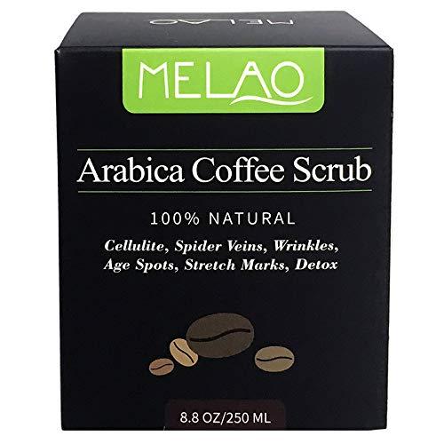 Exfoliante Corporal de Café Arábica 100% Natural, con Coco y Aceite de Argán orgánico, excelente para combatir la...
