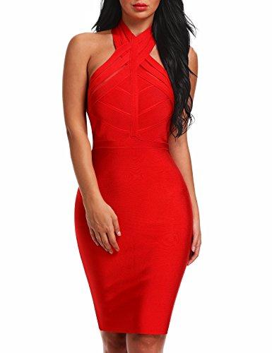 red halter dress - 6