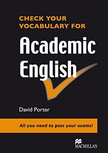 Check your Vocabulary for Academic English: Wortschatz