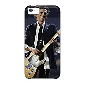 Shock Absorbent Cell-phone Hard Covers For Iphone 5c (QGa4083YIcM) Unique Design Nice Rolling Stones Series