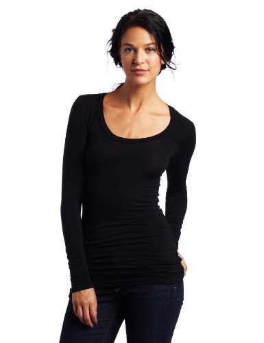 Splendid Women's Stretch Long Sleeve Top, Black, Small