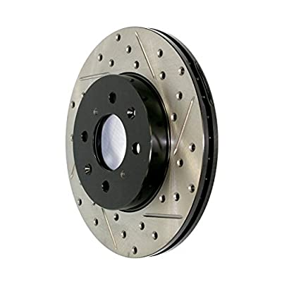 StopTech 127.44156R Sport Drilled/Slotted Brake Rotor (Front Right), 1 Pack: Automotive