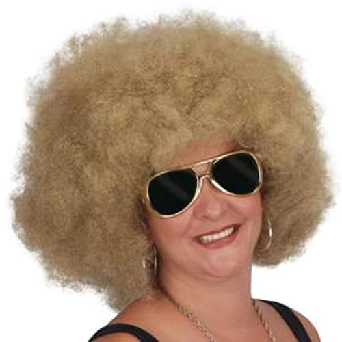 (Loftus International Giant 1970's Disco Queen Adult Curly Afro Wig Blonde One Size Novelty)