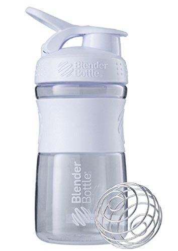 Blender Bottle SportMixer 20 oz. Bottle Tritan Grip Full Colors Assorted - Clear White Colors (Blender Bottle Odor Resistant compare prices)