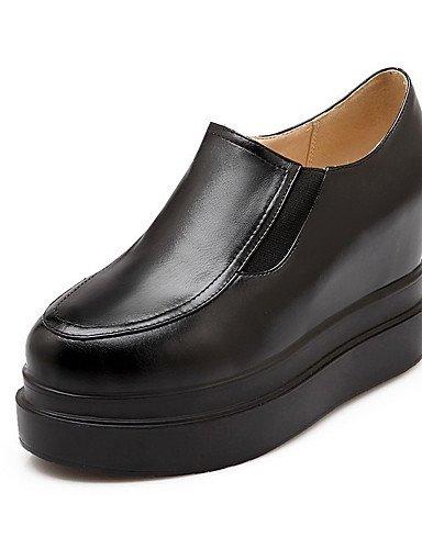 GGX Damen PU massiv Pull auf rund geschlossen Zehen High Heels pumps-schuhe