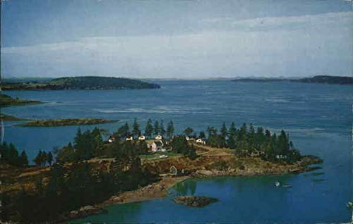 Harris Point Shore Cabins, Passamaquoddy Bay Eastport, Maine Original Vintage Postcard