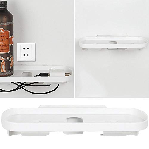 FOONEE Mobile Phone Charger Holder, ABS Plastic Charging Wall Mount Holder Shelf with Strong Adhesive -White