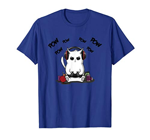 - Gamer Cat T-Shirt Cute Cat Gaming Shirt