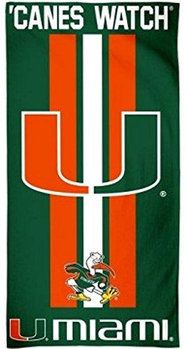 NCAA Miami Hurricanes 30 by 60 Fiber Reactive Beach (Ncaa Miami Hurricanes Towel)