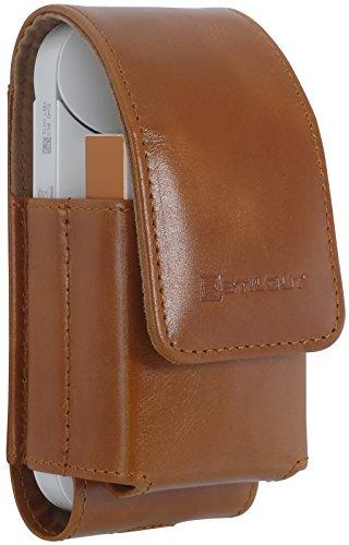 StilGut IQOS Case 2in1, Leather Cover for IQOS, Cognac Brown
