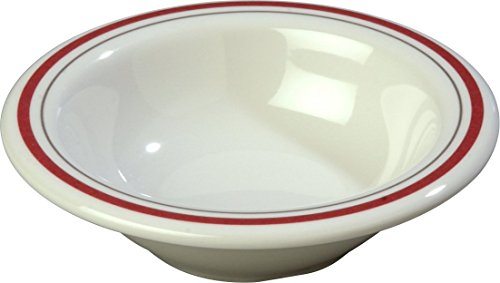 - Carlisle 43043903 Durus Rimmed Melamine Fruit Bowl, 4.75