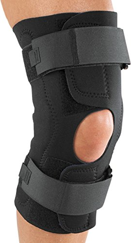 ProCare Reddie Hinged Knee Support Brace: Neoprene Wrap-Around, MCL and LCL Sprains, - Wrap Support Knee Neoprene Around