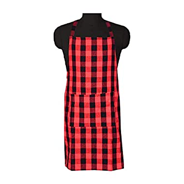 COMFORT WEAVE 100% Cotton Kitchen Apron Free Size - 65 X 80 cms with Front Centre Pocket (Pack of 2 Pieces) 7