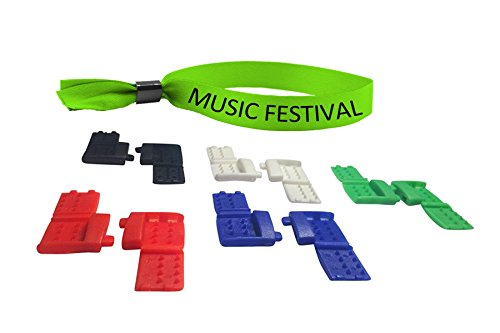 Festival Clips - Clips That Let You Wear Your Festival Wrist Bands Again! (5, Rainbow)