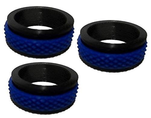 Goings Innovations Blue Line Anti-Anxiety and Stress Relief Spinner Fidget Ring 3 Pack - Innovation Line