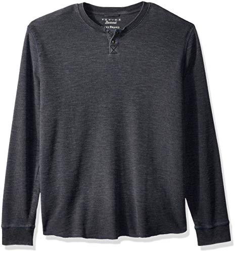 nice Burnout Thermal Henley Shirt, Pirate Black, XXL ()