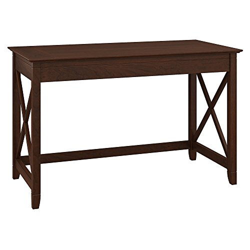 Bush Furniture Key West 48W Writing Desk in Bing Cherry