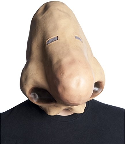 Morbid Enterprises Giant Nose Schnoz Sniffer Funny Huge Human Nose Mask Halloween Costume Accessory,Beige,One Size]()