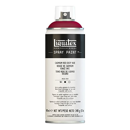 Liquitex Professional Spray Paint 12-oz, Cadmium Red Deep Hue (Deep Red Enamel)
