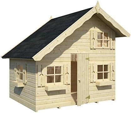 Box Casitas de madera caseta de jardín para niños, madera de abeto, 16 mm, 3, 8 m² -180 X 220 cm: Amazon.es: Jardín