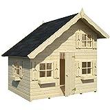Box Casitas de madera caseta de jardín para niños, madera de abeto, 16 mm