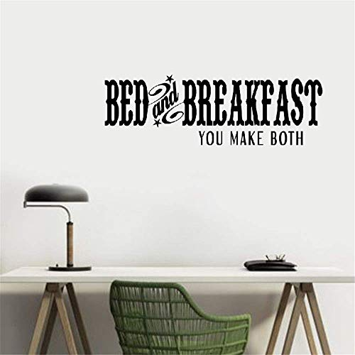 (Peruil Wall Stickers Design Art Words Sayings Removable Lettering Bed and Breakfast You Make Both for)